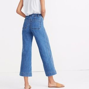 Emmett Wide Leg Crop Jeans in Rosalie Wash
